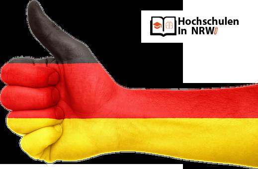 HochschulenGermanyFlagHands - 5 Wesentliche Vorteile der Deutschen Bildung